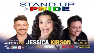 Jessica Kirson, Matteo Lane and Jess Miller kick off Pride weekend in Northampton, Ma on Friday, May 4, 2018