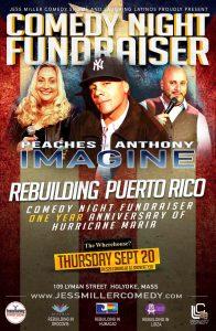 Rebuilding Puerto Rico | Comedy Night Fundraiser | Thursday, September 20, 2018